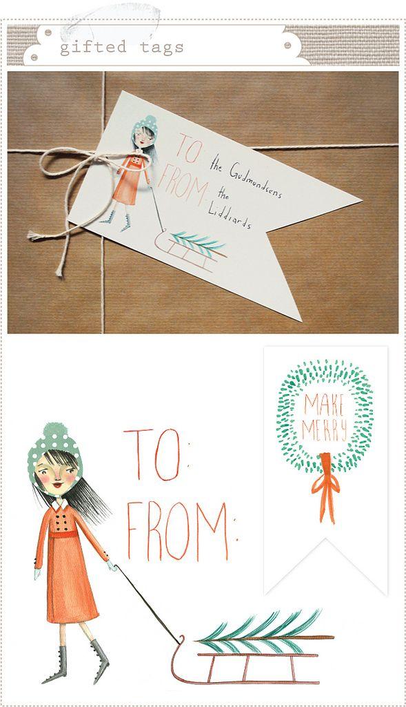 Free printable gift tags   Print   It   Pinterest   Weihnachten ...