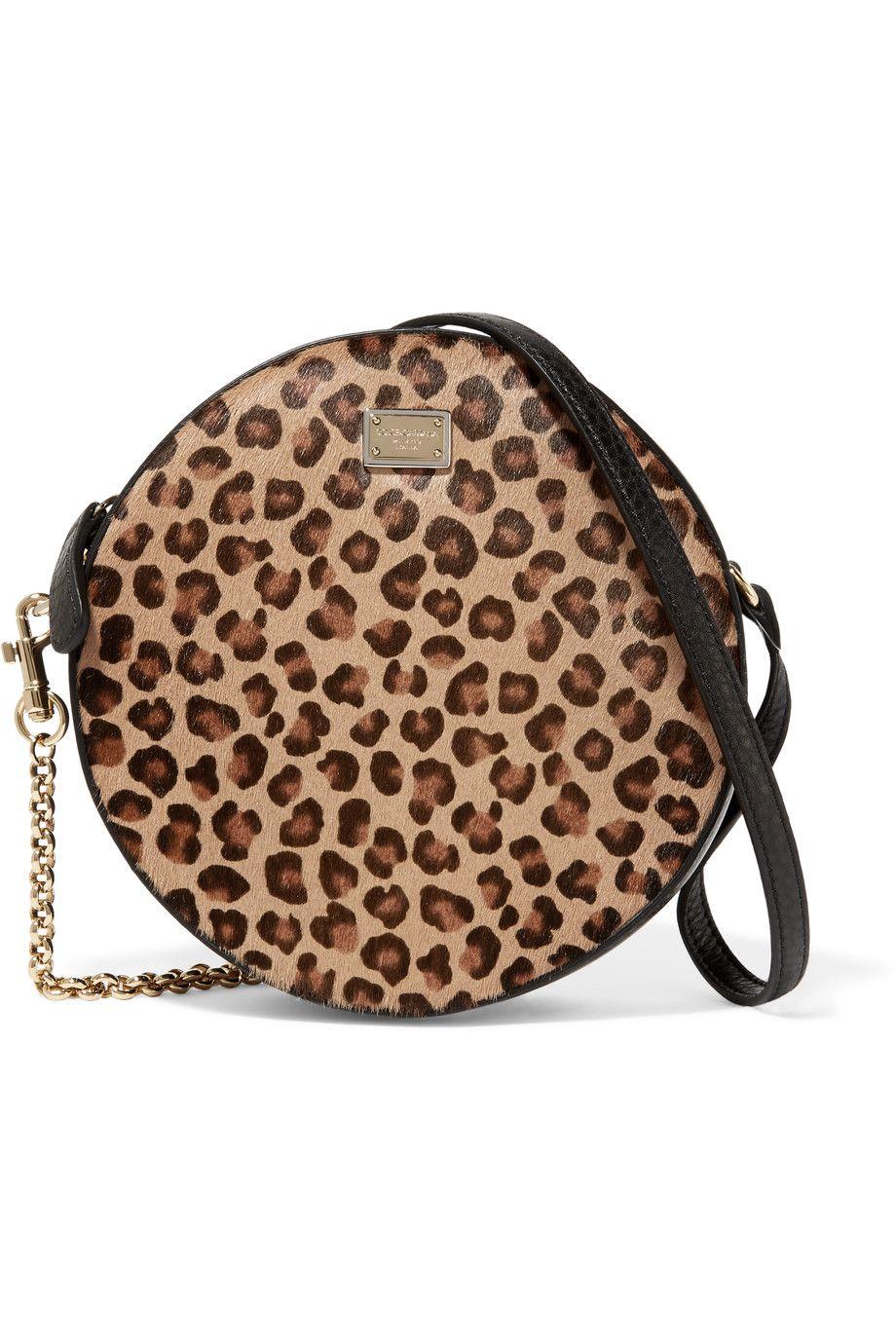 2af4bdd54d Shop on-sale Dolce   Gabbana Leopard-print calf hair and leather shoulder  bag. Browse other discount designer Shoulder Bags   more on The Most  Fashionable ...