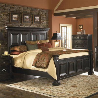 like the stone behind the bed Home Design Pinterest Bedrooms