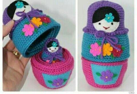 Russian Matryoshka Babushka Nesting Dolls Crochet Pattern ...