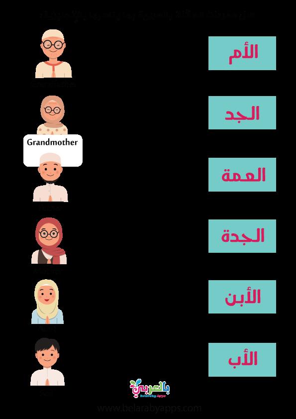 أوراق عمل شجرة العائلة للأطفال ورقة نشاط شجرة عائلتي بالعربي نتعلم In 2021 Family Tree Worksheets Free Father