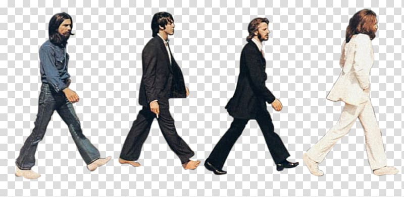 Men Walking The Beatles Abbey Road Sgt Pepper S Lonely Hearts Club Band Silhouette Tour Transparent Backgro Beatles Silhouette The Beatles Beatles Wall Art