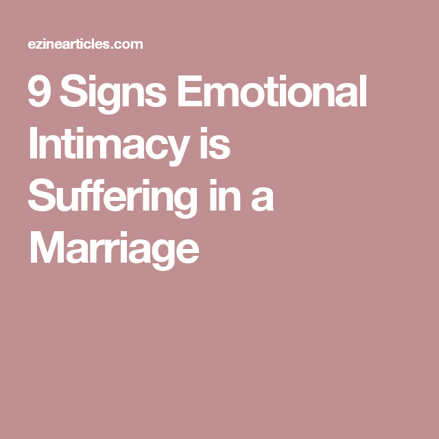 how to build emotional intimacy in marriage