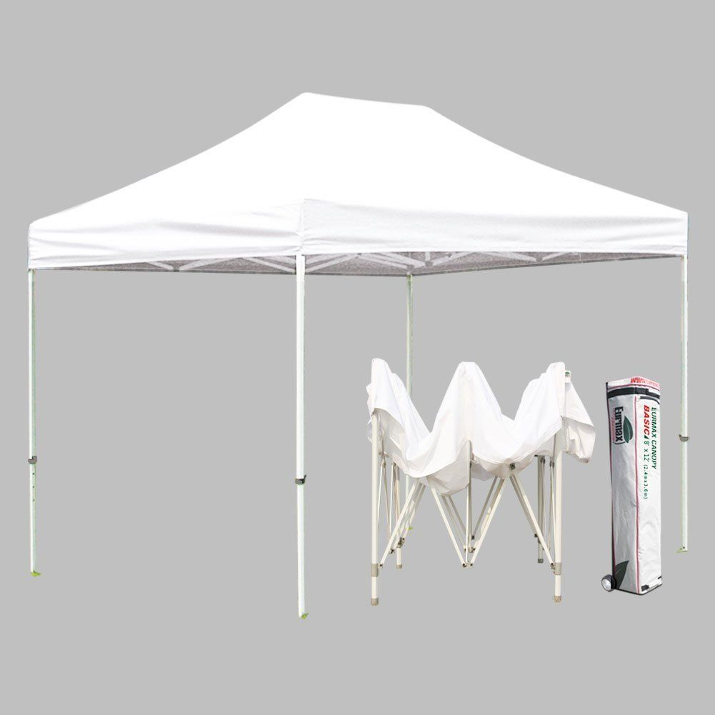 Eurmax Basic 8 X 12 Pop Up Canopy Party Tent Outdoor Canopy Gazebo With Roller Bag For More Information Backyard Canopy Outdoor Canopy Gazebo Canopy Glass
