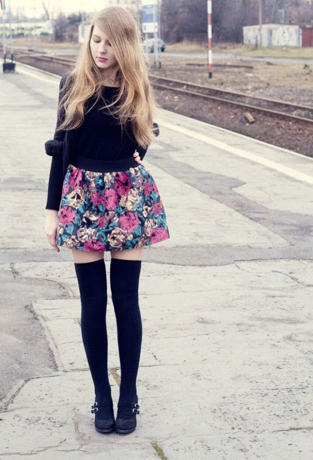 3ece534f127 How to Wear Knee High Socks  19 Stylish Outfit Ideas The socks  better  either higher or a lot lower