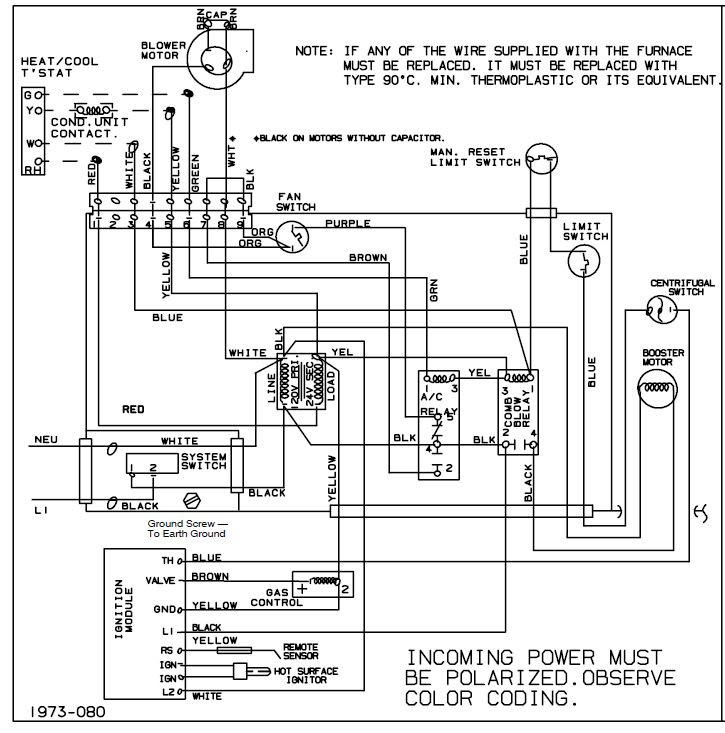 on air conditioner contactor schematic diagram
