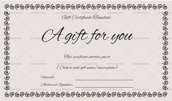 Gift Certificate Ring Design Doc Formats Gift Certificate Template Printable Gift Certificate Gift Certificates