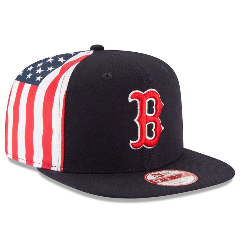 Boston Red Sox New Era Flag Side Original Fit 9FIFTY Snapback Adjustable Hat  - Navy d136d3ffaf70