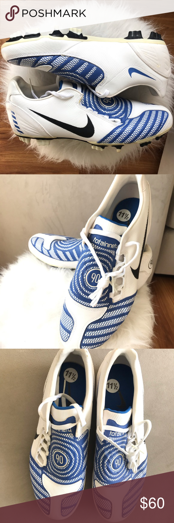 proyector Respetuoso del medio ambiente Probar  Nike Total 90 Ninety Soccer Cleats size 11.5 white NWT | Soccer cleats, Nike  total 90, Vans classic slip on sneaker