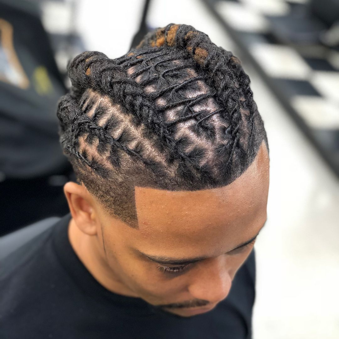 Image May Contain One Or More People And Closeup Dreadlock Hairstyles For Men Dreads Styles Short Locs Hairstyles