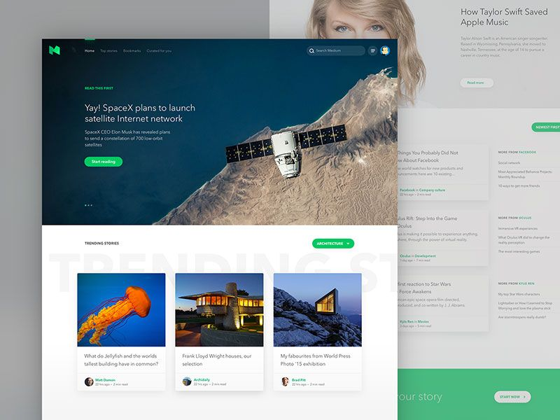 Medium Homepage Experiment Experiments Web Inspiration Music Player Design