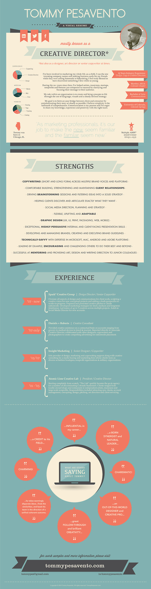Responsive in style, this one page #Graphic #CV is a delight ...
