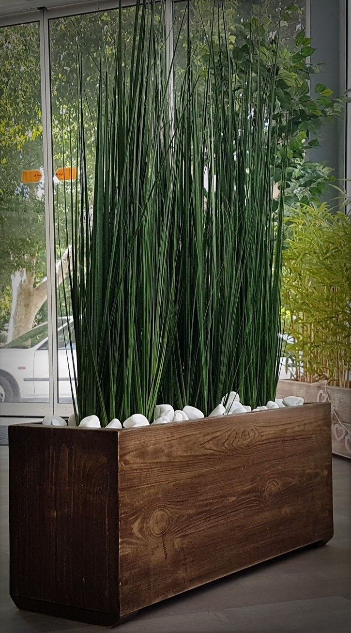 Small artificial river grass in our custom made wooden planter small artificial river grass in our custom made wooden planter workwithnaturefo