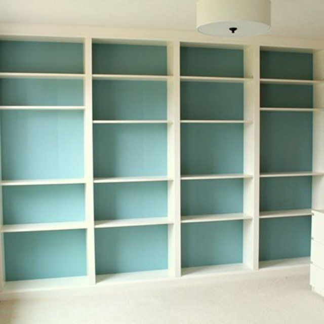 La billy fa on grande biblioth que murale diy pinterest ikea - Meuble tv bibliotheque ikea ...