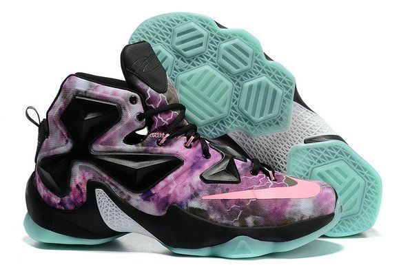 Free Shipping Only 69  Lebron 13 XIII Galaxy South Beach Green Glow All Star 720a6d2789
