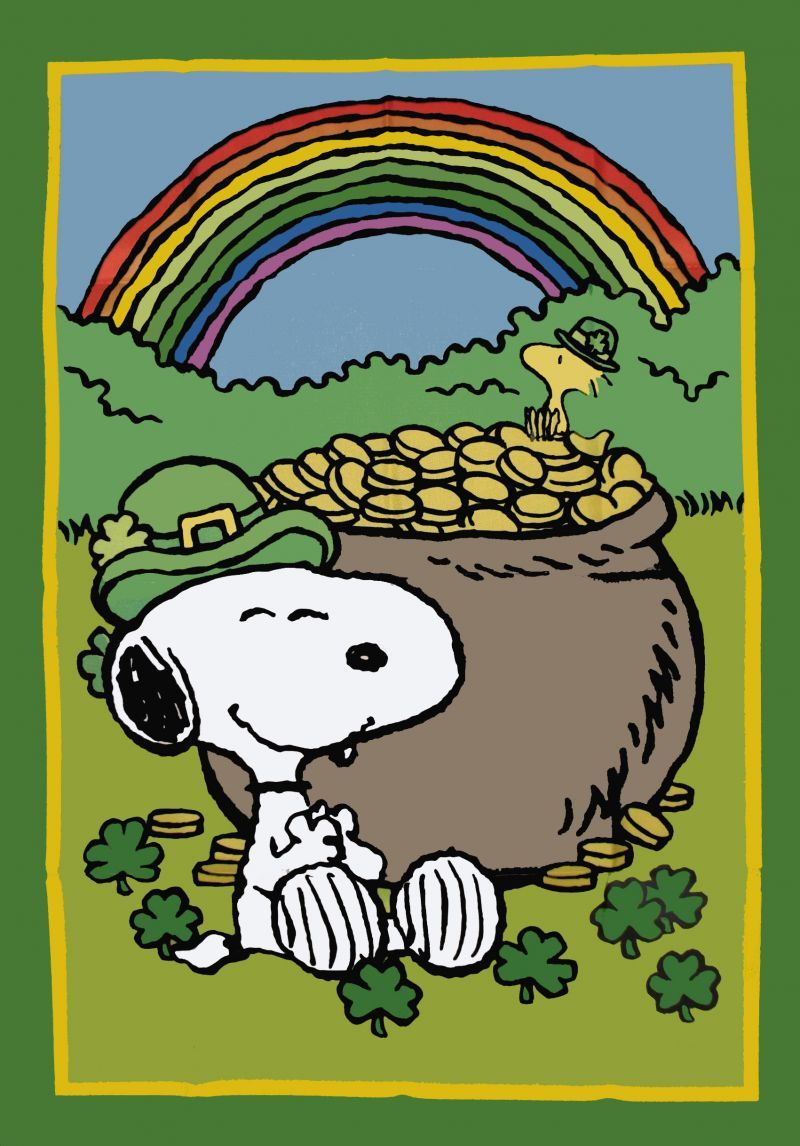 Peanuts Gang St Patrick S Day Flag Snoopn4pnuts Com Snoopy Snoopy Love Snoopy And Woodstock