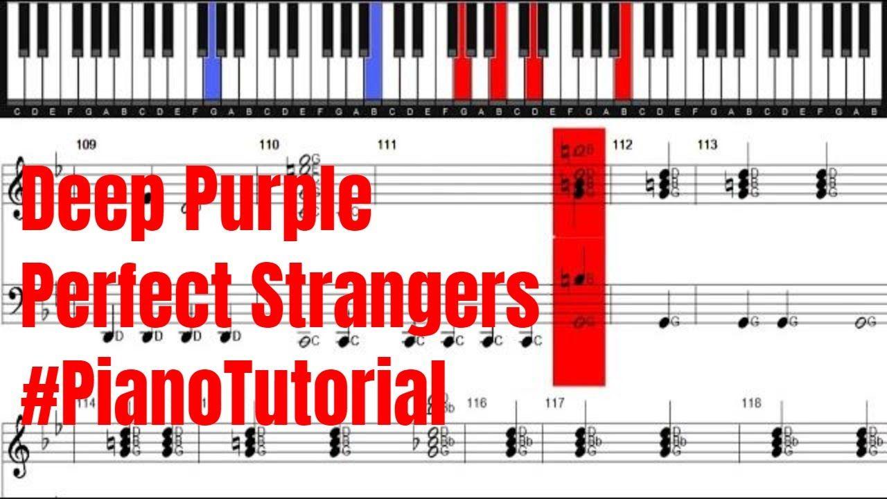 Deep Purple Perfect Strangers Piano Cover   Piano cover, Perfect ...