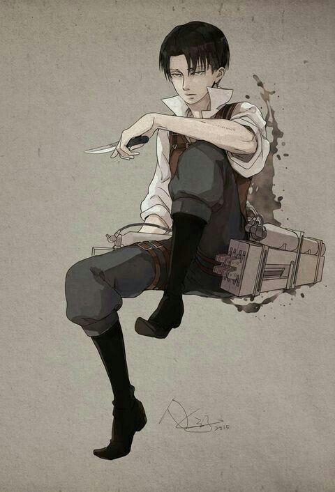 Levi Ackerman Lovely Pose Livai Levi Ackerman Illustrations Animees