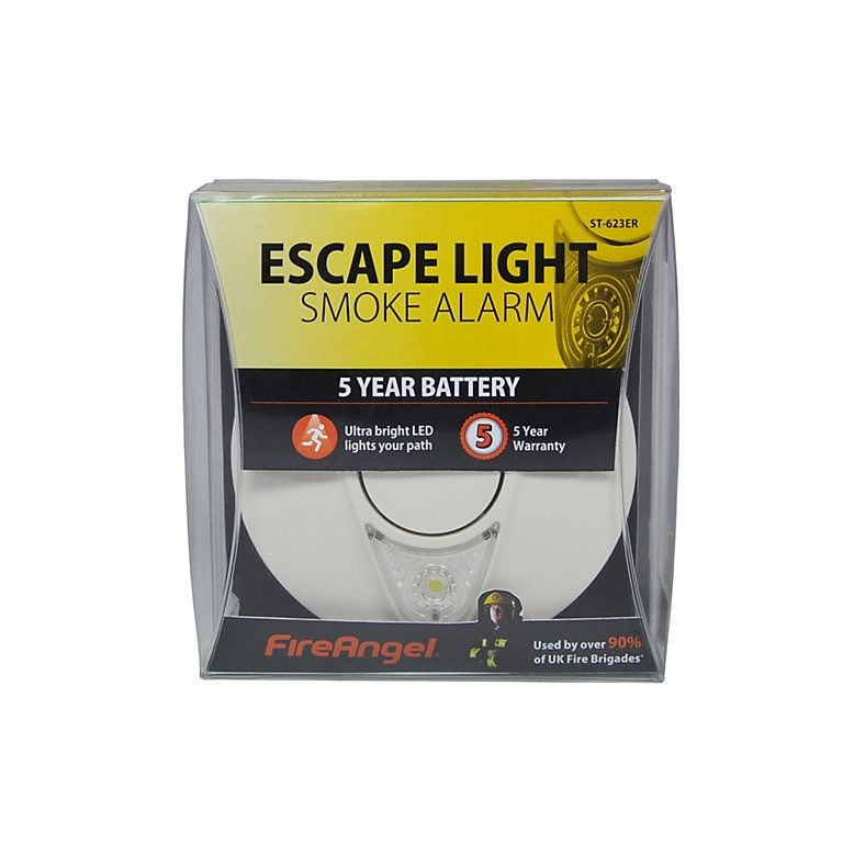 Fireangel Smoke Alarm With Escape Light Smoke Alarms Fire Alarm