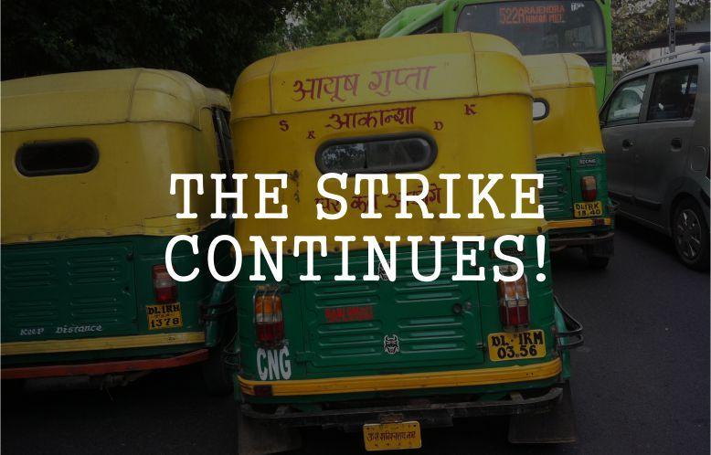The Auto strike continues in Delhi. Read to know more: http://goo.gl/LqVkek #Strike #Auto #Taxi #Cab #Ola #Uber #Delhi #Uthestory