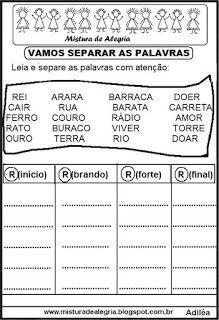 Ortografia Atividades Alfabetizacao E Letramento Atividades De