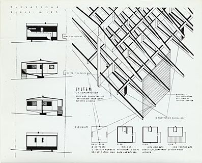 Plas 2 Point Prefabricated House Drawing 1942