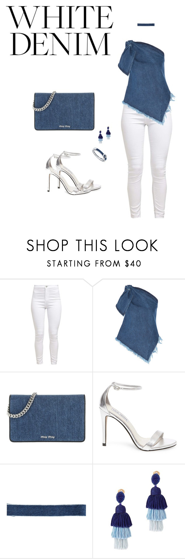 """""""Untitled #81"""" by laurenhanrahan ❤ liked on Polyvore featuring Marques'Almeida, Miu Miu, Steve Madden, Electric Picks and Oscar de la Renta"""