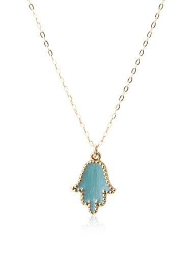 70% OFF Alexandra Beth Designs Turquoise Hamsa Necklace