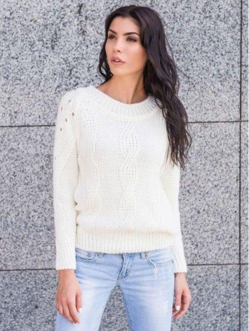 Knitted sweater open back Warm winter sweater Autumn sweater Woman ...
