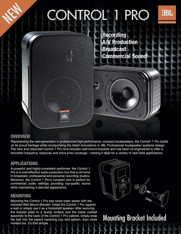Reminder Jbl Professional Control 1 Pro High Performance 2 Way Professional Compact Loudspeaker System Black Sold As Pair Loudspeaker Jbl High Performance