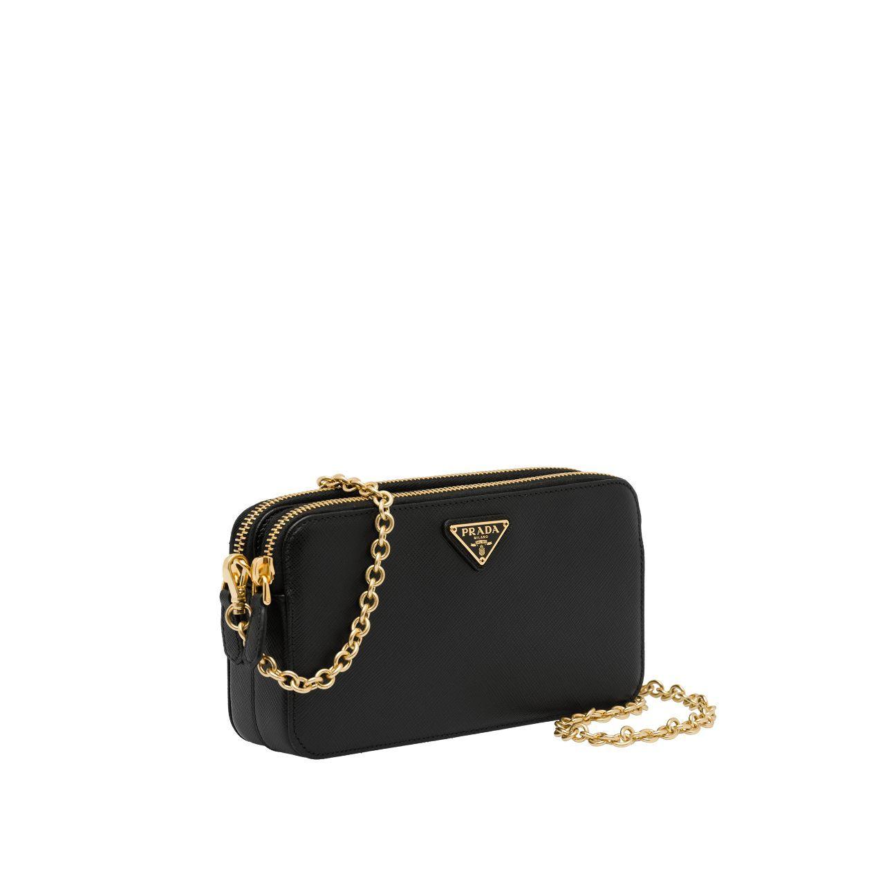 45b944b4 Saffiano leather mini shoulder bag in 2019 | Bags | Shoulder Bag ...