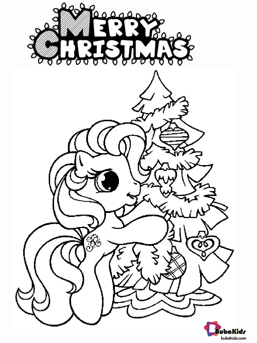 Little Pony And Christmas Tree Coloring Pages Collection Of Cartoon Coloring Pag My Little Pony Coloring Christmas Coloring Pages Thanksgiving Coloring Pages