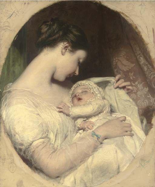 Maternità. pittore britannico