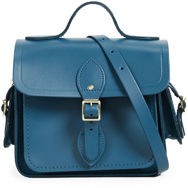 Cambridge Satchel Traveller Bag With Side Pockets 17 505 Rub Liked On Polyvore Featuring Bags Pea Split Blue Leather The