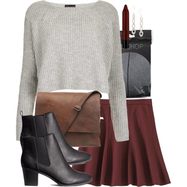 Allison Inspired Outfit with Fishnet Tights by veterization on Polyvore featuring polyvore, fashion, style, Topshop, H&M, Charter Club and NYX