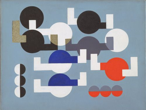 Composition of Circles and Overlapping Angles - Sophie Taeuber-Arp