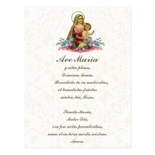 Blessed Virgin Hail Mary Jesus Latin Vintage Postcard   lularoe mothers day, mothers day tablescapes, mothers day recipes #mothersdaytea #MothersDayWeekend #mothersdaycraft