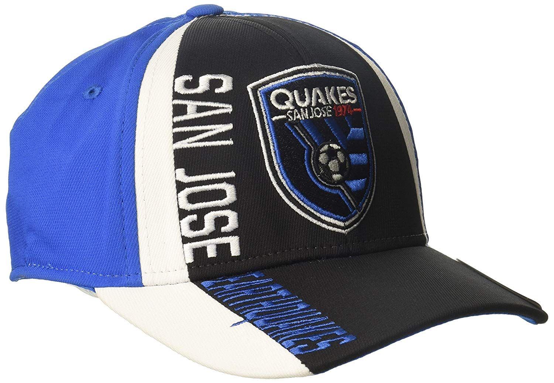wholesale dealer 8cbb8 0e0eb adidas MLS San Jose Earthquakes Adult Men Cut  N Sew Curved Visor Flex,  Large X-Large,  6.02