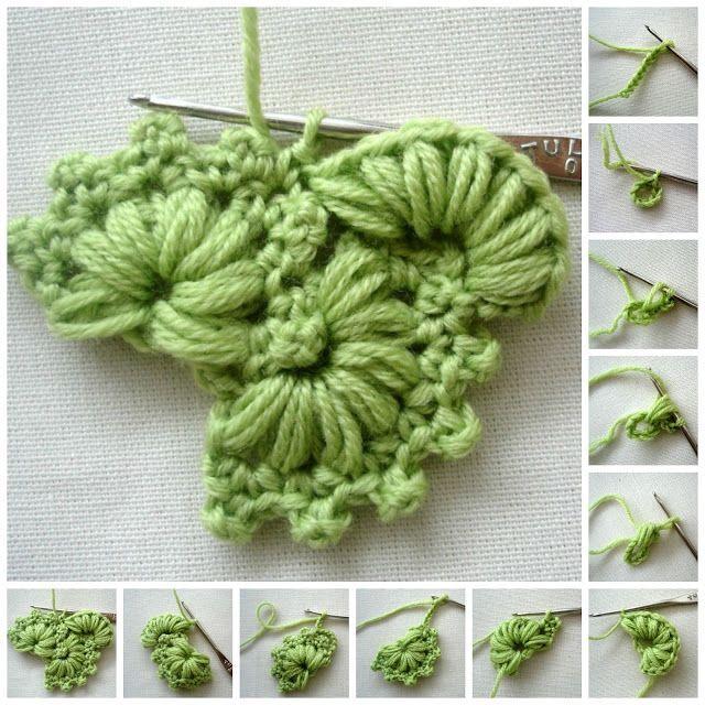 Crochet Stitch + Free Pattern Step By Step #crochetstitches ergahandmade: Croche…
