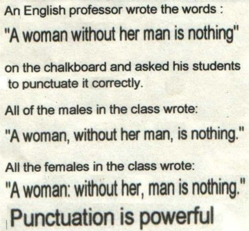Man Is Nothing Winning Words Funny Quotes Punctuation