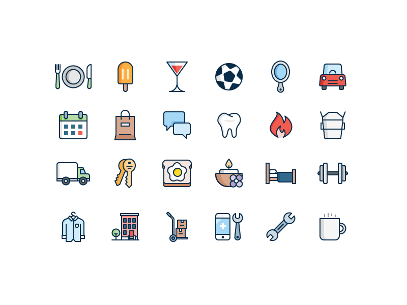 Business Category Icons Icon Set Pinterest Icon Design Best