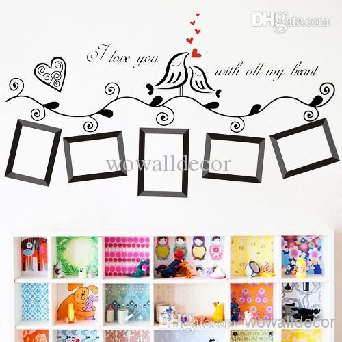 Picture Frame Wall Decals photo frame family tree wall sticker wallpaper photoframe stickers