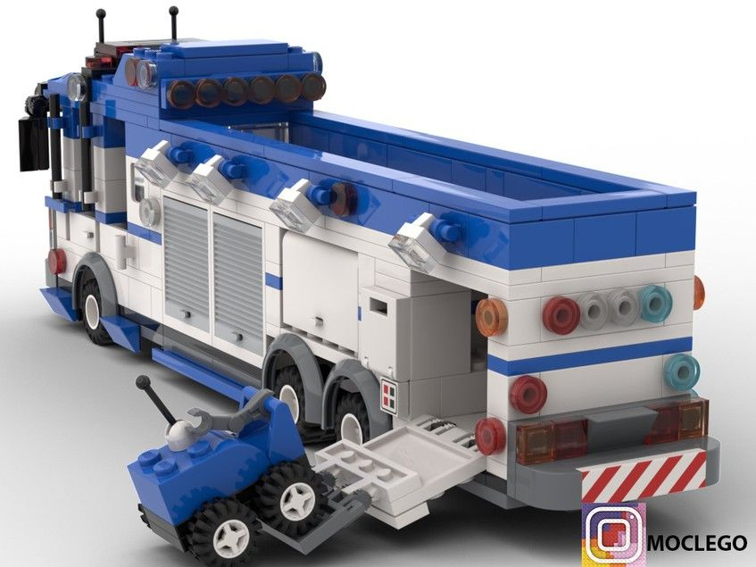Police Anti Bomb Squad Truck Lego Truck Lego City Fire Lego Police