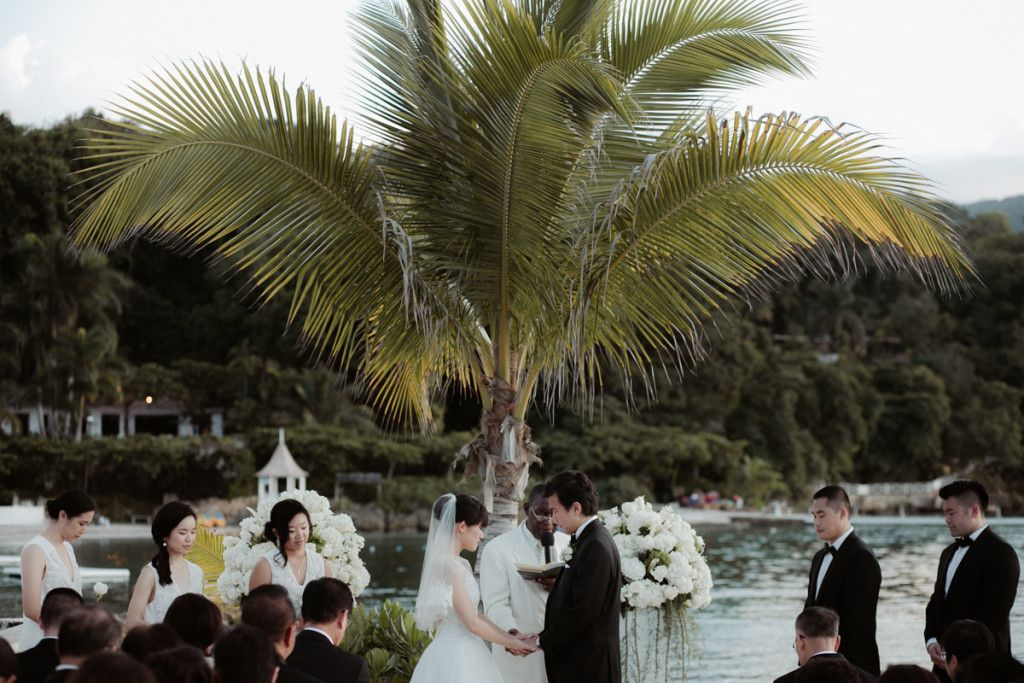 seaside wedding, Jamaica - Bianco Photography
