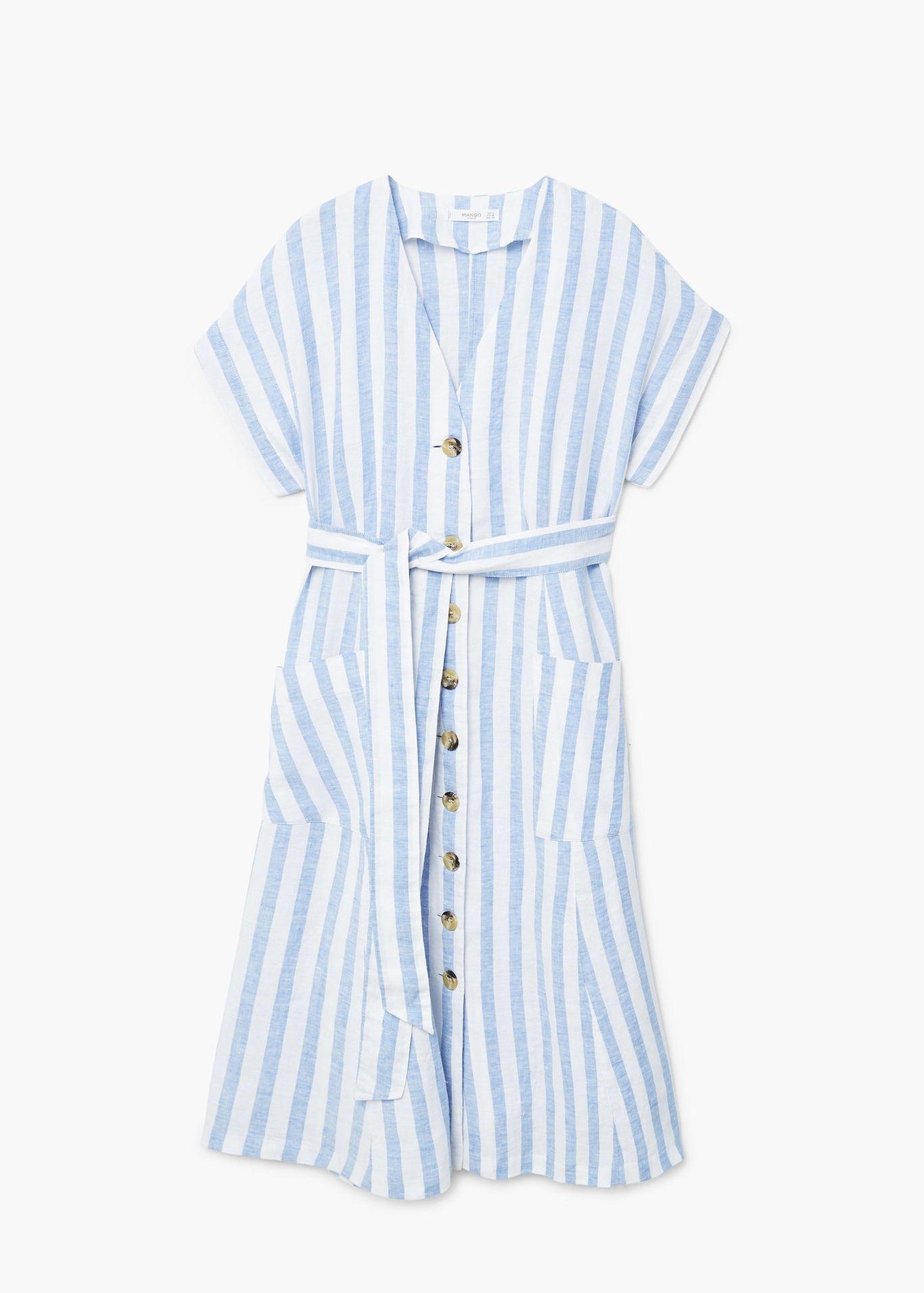 28ccc8277fd0 Vestido lino rayas - Vestidos de Mujer | Vestidos/dress | Kläder ...
