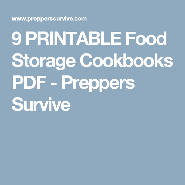 9 printable food storage cookbooks pdf preppers survive 9 printable food storage cookbooks pdf preppers survive forumfinder Gallery