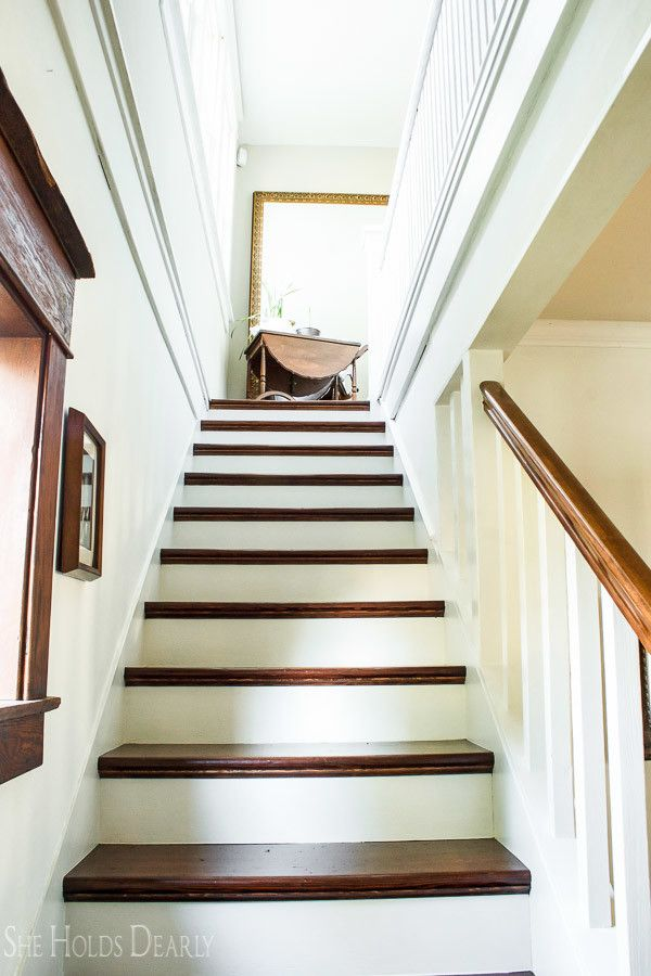 Best How To Refinish Old Wood Stairs Wood Stairs Painted 400 x 300