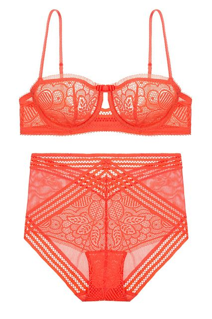 2f88981a6c Huit Arpege Panty, $58, available at Journelle; Huit Arpege Half-Cup Bra,  $74, available at Journelle.