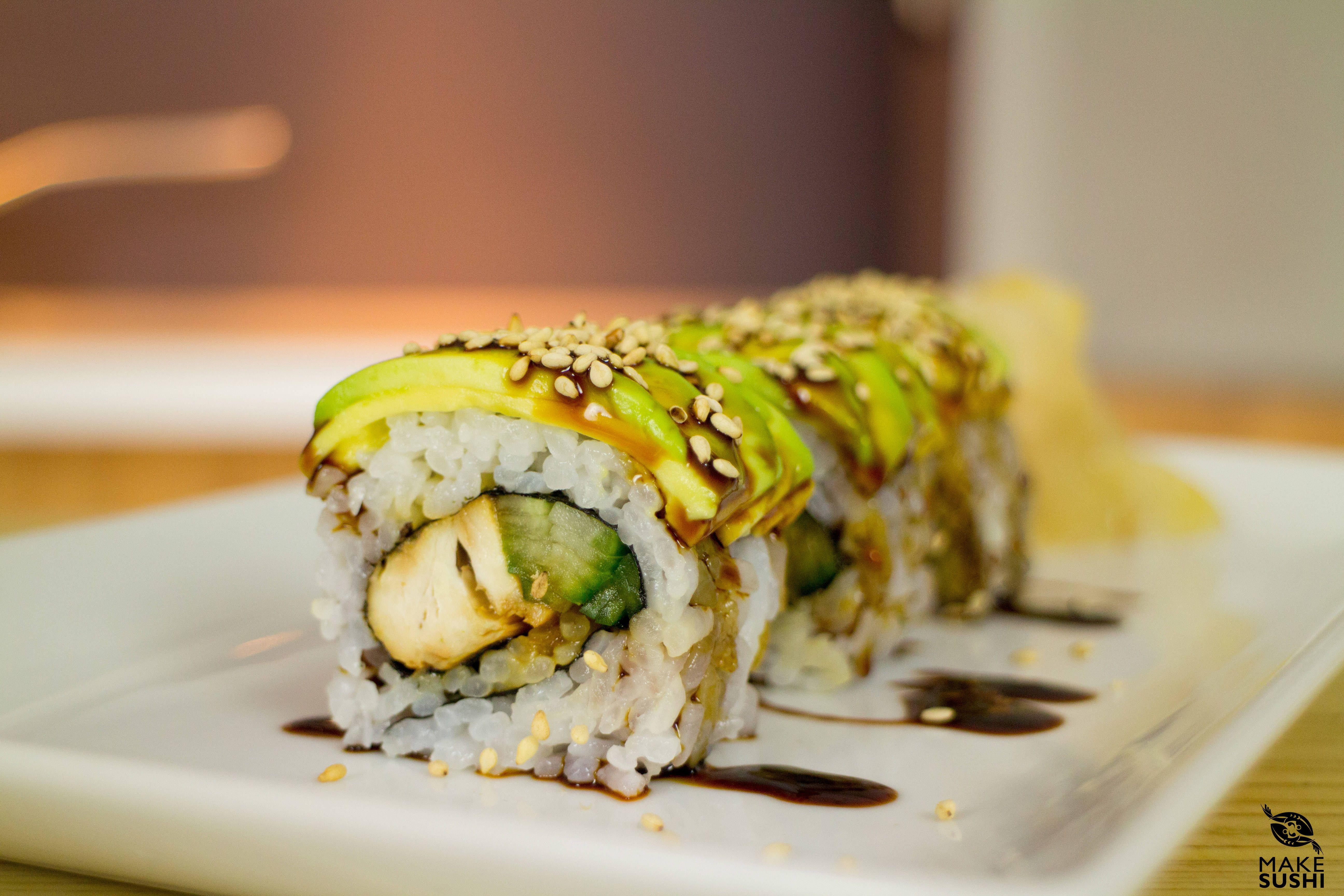 Teriyaki Chciken Sushi Roll Recipe Recipe Chicken Sushi Teriyaki Chicken Sushi Sushi Rolls