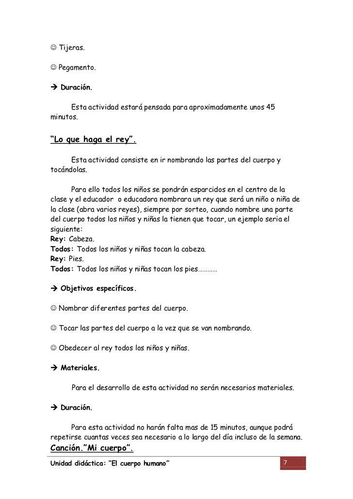Unidad didactica cuerpo humano | Cuerpo | Pinterest | Cuerpo humano ...